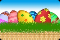 Special Easter Eggs Basket Background