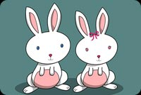 Happy Easter Bunnies Background