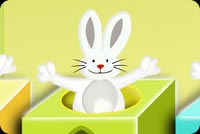 Cheerful Easter Bunnies Background