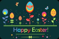 Beautiful Easter Greetings Background