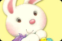 Cute Bunny For Easter Background