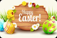 Happy Easter, Colorful Eggs, Flowers Background