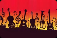 I Love Music Background