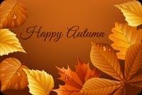 Happy Autumn Background