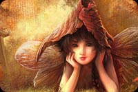 Fall autumn email backgrounds. Autumn Little Fairy
