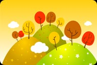 I Love Autumn! Background
