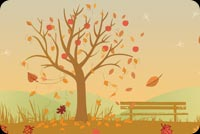Autumn Missing You Background