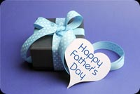 Purple Happy Father's Day Gift Box Background