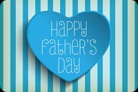 Blue Heart Happy Father's Day Background