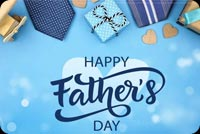 Happy Father's Day Blue Tie Gift Box Background