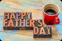 Happy Father's Day Coffee Cup Background