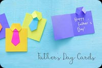 Father's Day Homemade Paper Card Background