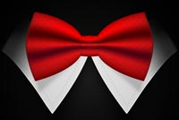 Red Bow Tie Background