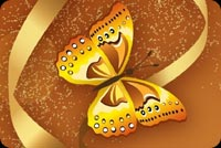 Butterfly & Flower Art Background