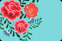 Blue Theme Flowers Background
