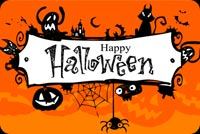 Halloween Frame Banner Background