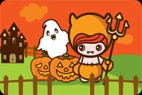 Halloween email backgrounds. Cute Girl. Happy Halloween!