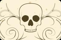 Halloween Skull Design Background