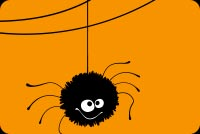 Cute Spider. Happy Halloween Background