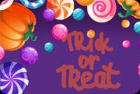 Halloween email backgrounds. Trick Or Treat Candies