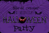 Halloween email backgrounds. Spider Web Party