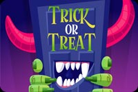 Halloween email backgrounds. Monster Trick Or Treat