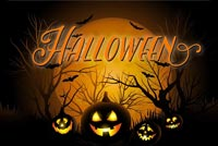 Halloween Pumpkin Night Background
