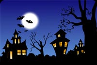 Halloween Haunted Houses Background