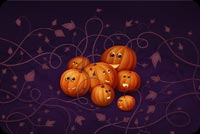 Halloween email backgrounds. Happy Pumpkins