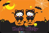 Hello Kitty Happy Halloween Background