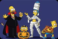 Halloween With The Simpsons Background