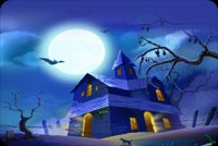 Halloween email backgrounds. Freaky Haunted Houses