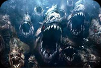 Halloween email backgrounds. Scary Piranha