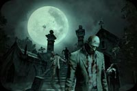 Zombies Walking In The Moon Background