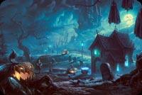 Halloween With Bats Vampire & Pumpkin Background