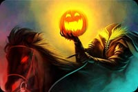 Halloween email backgrounds. Halloween Headless Horseman
