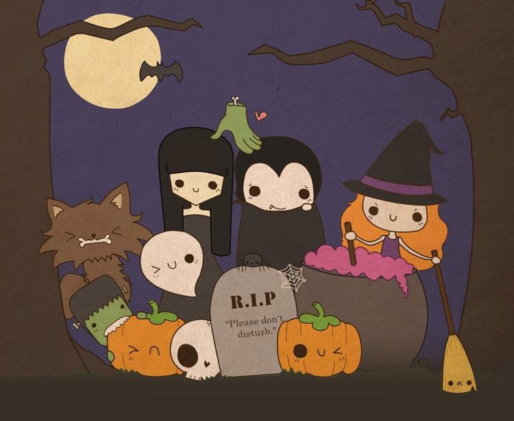 милые хэллоуинские картинки