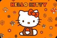 Happy Halloween Hello Kitty Background