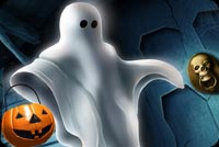 Halloween Ghost & Pumpkin Background