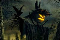 Halloween Scarecrow Background
