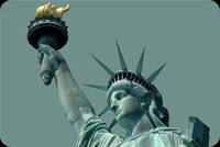 July 4th email backgrounds. New York - Statue Of Liberty