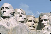 July 4th email backgrounds. Presidential Portraits Mountain