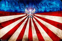 Happy Birthday Usa / Memorial Day Or Veterans Day Background