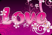 Love Heart And Flowers Background