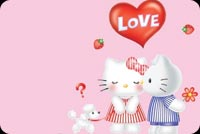Hello Kitty! I Love You Background