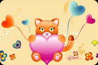 Love Kitten Background