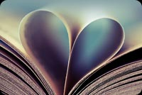 Love Book Background