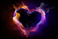 Fire Heart Love Background
