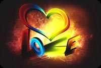 Colorful Love Heart Background