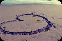 Big Heart Sandy Beach Background